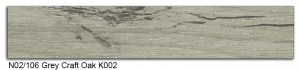 N02-106 Grey Craft Oak K002 SLIDE SMALL